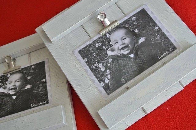 Portafoto legno shabby - Portafoto con molletta ...
